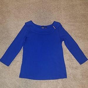Rafaella Blue top, size: M